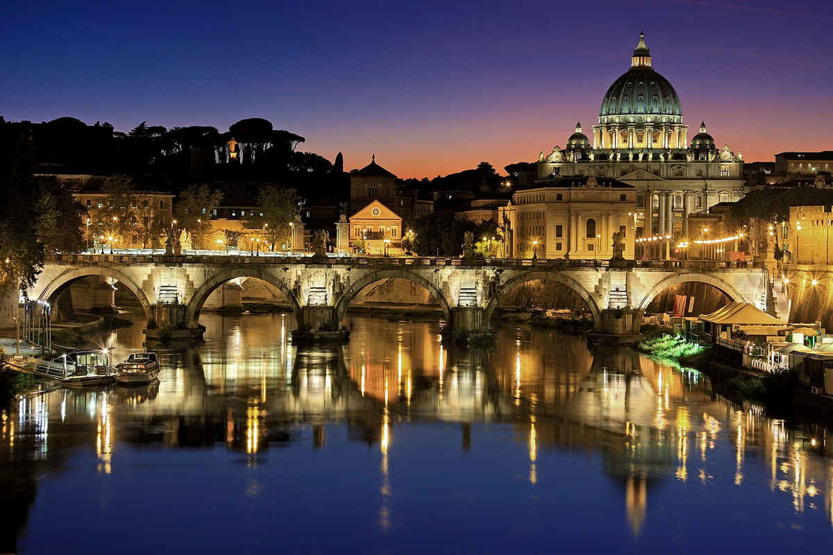 rio tiber puente roma