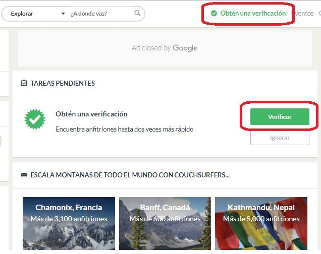 verificacion couchsurfing pasos para verificar tu cuenta