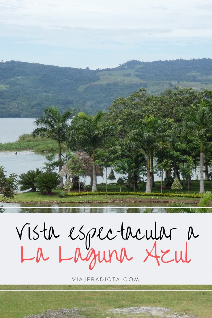 Lodge en la Laguna Azul con una vista espectacular! #lagunaazul #tarapoto #peru