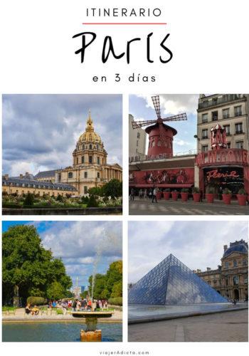 Itinerario paris 3 dias