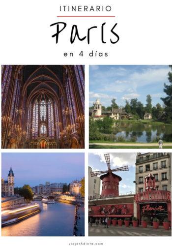 Itinerario paris 4 dias