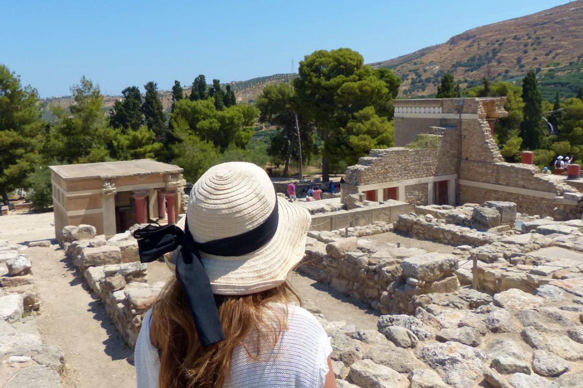 Zona arqueologia Palacio de Knossos