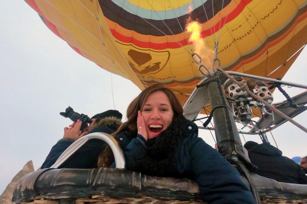 volando en globo aerostatico en turquia