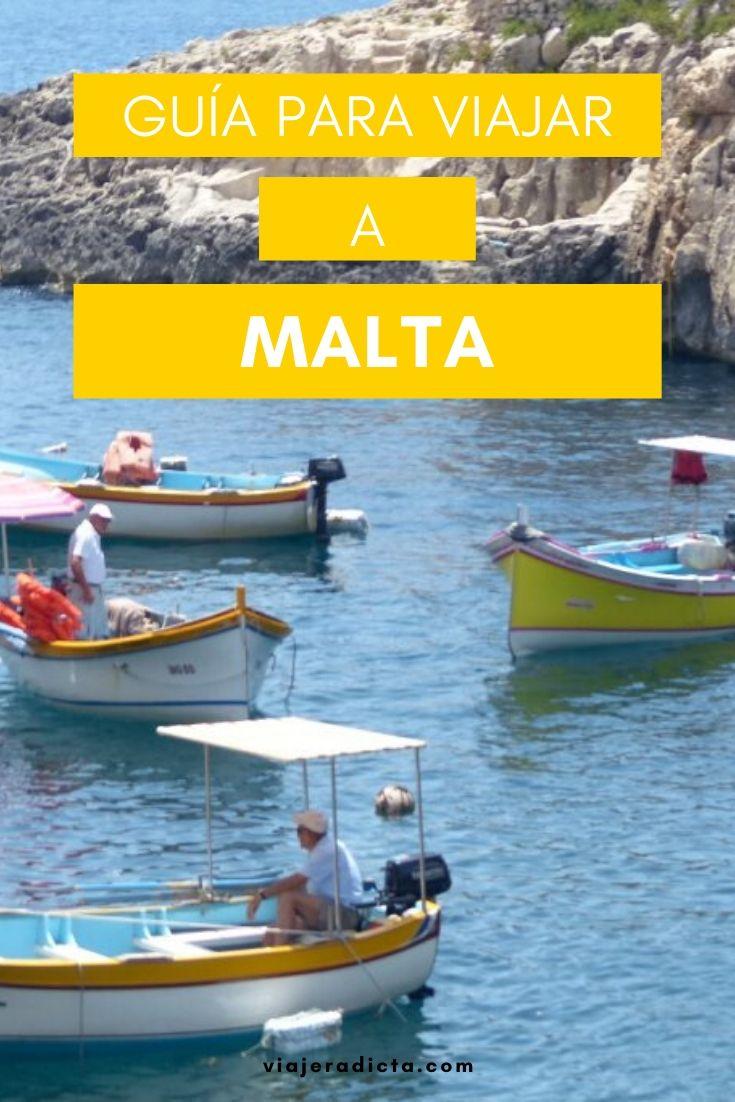 Te vas de viaje a Malta? Revisa esta guia con todos los datos que necesitas saber para planificar tu viaje. #planificacion #viaje #malta