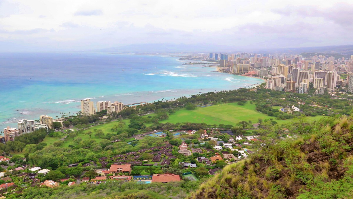 vista de honolulu desde el diamond head