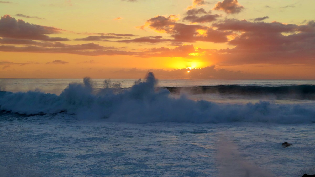 sunset en kaena point
