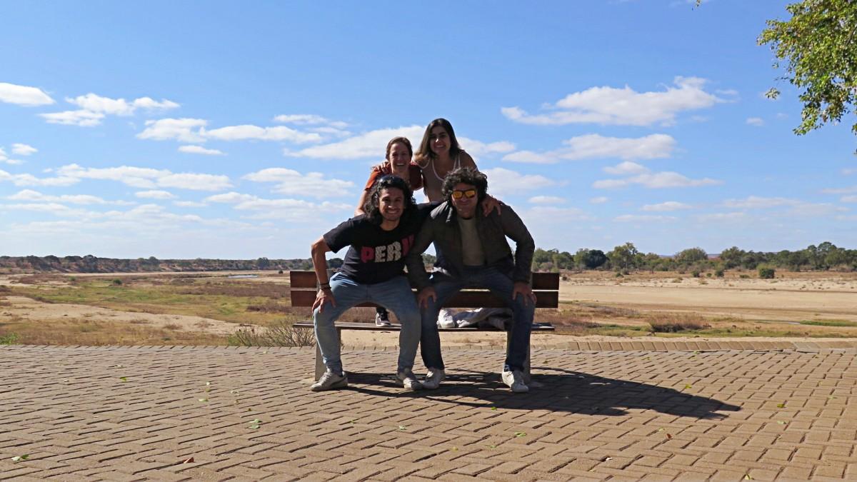 Con amigos en el Parque Nacional Kruger