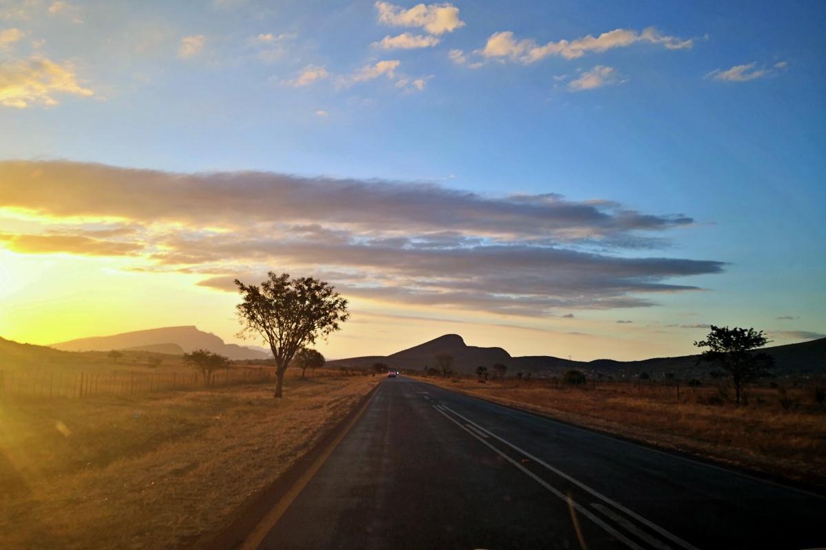 Sunset camino al Kruger