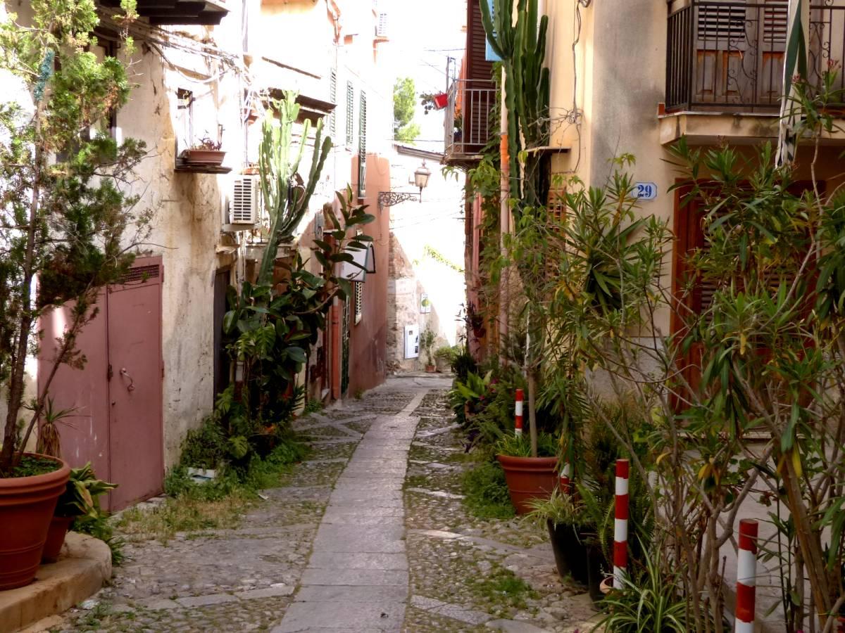 calle con plantas en monreale