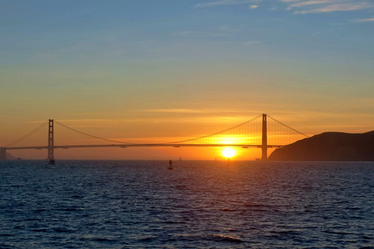 atardecer golden gate san francisco
